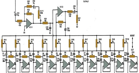 Band Graphic Equalizer Circuit For Home Theater
