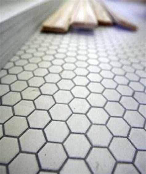 honeycomb tiles on grout bathroom