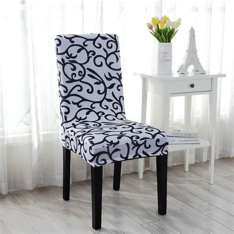 stretch spandex floral dining room wedding banquet chair