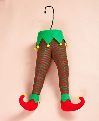elf legs stuck in christmas tree stuck in the tree decorations the lakeside collection