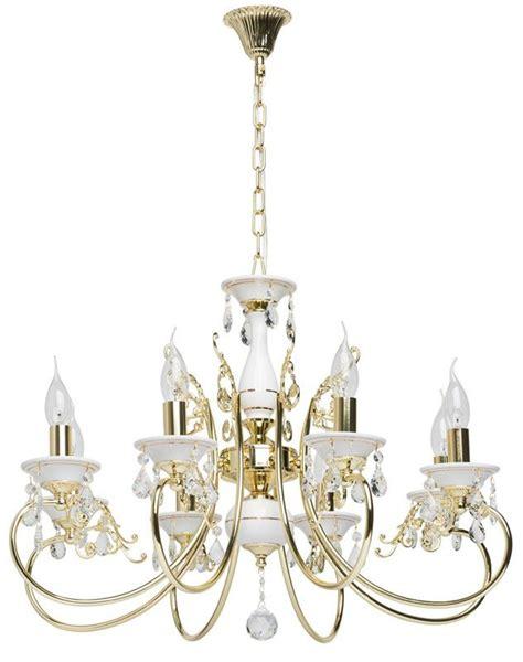 lustre baroque 224 pilles m 233 tal dor 233 et blanc 8 233 clairages mw light