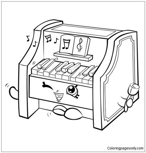 piano coloring pages piano shopkins coloring page free coloring pages