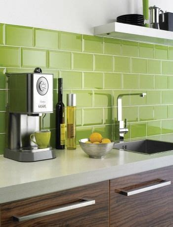 green subway tile kitchen green brick tiles for a colourful kitchen splashback co 4041