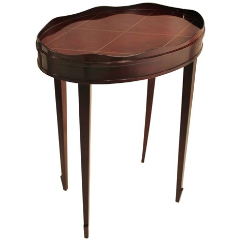 end table ls for sale diminutive barbara barry oval gallery edge side table for