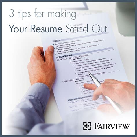Tips To Make A Resume Stand Out by 100 20 Tips For Creating A 100 Tips For Creating A