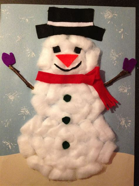 christmas ball art and craft cotton snowman ideas for elementary classrooms snowman craft and