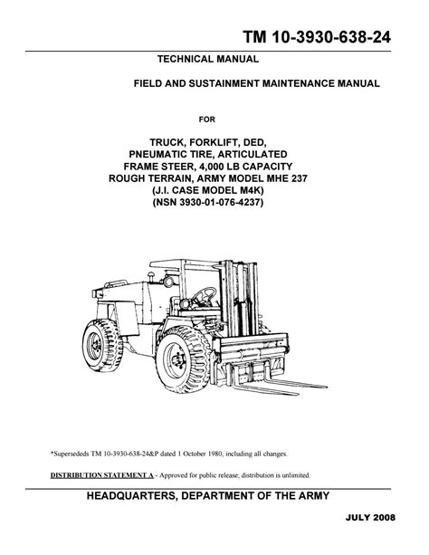 Case M4K Forklift Truck Service Repair Manual by 163316