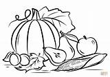 Coloring Harvest Pages Autumn Printable Drawing Crafts Paper sketch template