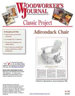woodworkers journal classic downloadable plans