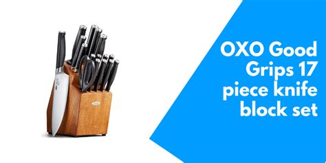 oxo good grips  piece knife block set cookwaredcom