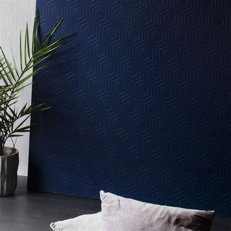 hive  anaglypta paintable white wallpaper