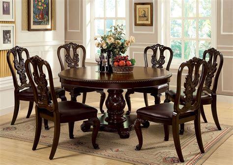 Bellagio Brown Cherry Round Pedestal Dining Room Set From