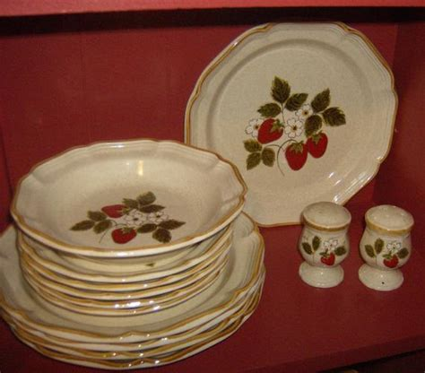 Mikasa Vintage Dishes Strawberry Festival 63 Piece Set by