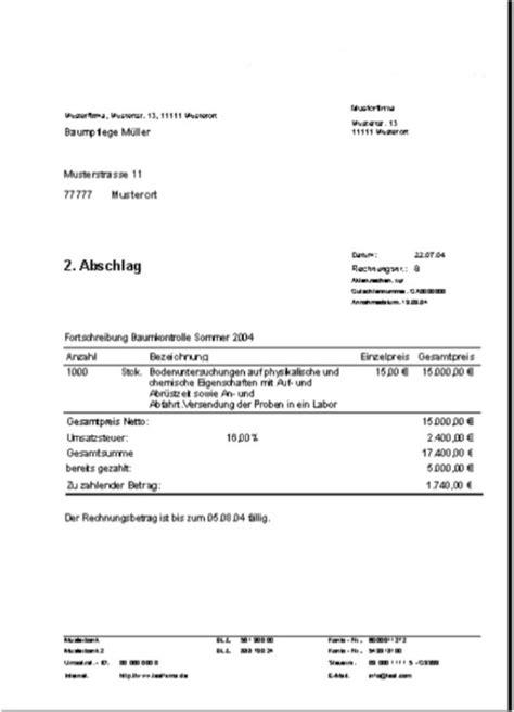 rechnungsprofi registratur von auftraegen und