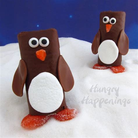 snack cake penguins fun christmas candy  crafts