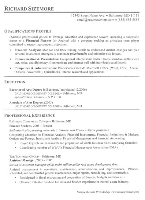 resume objective for college student internships first job resume exle resume writing with no experience