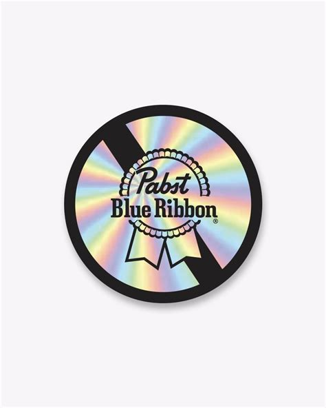 When it launched a 5% abv hard coffee, people rolled those eyes. PBR Classic Circle Holographic Sticker - Pabst Blue Ribbon Store