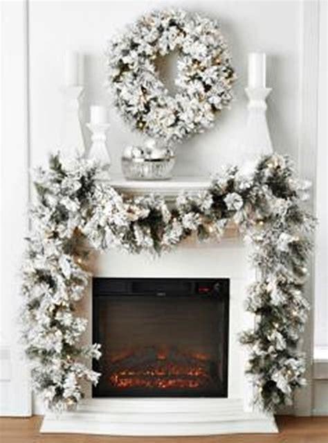 elegant lighted garland flocked snow look pre lighted wreath garland indoor decor