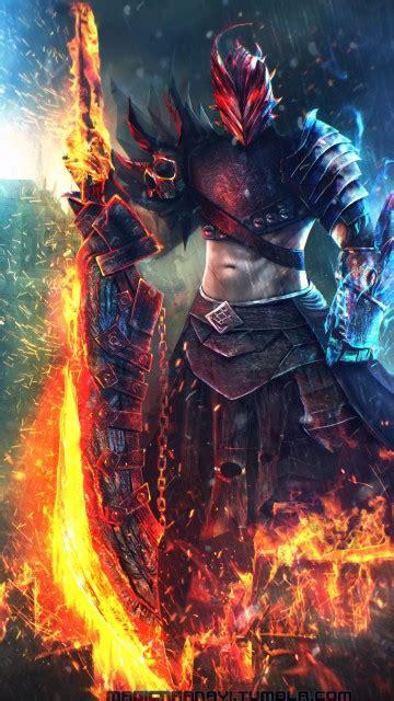 wallpaper commander warrior sword  creative graphics