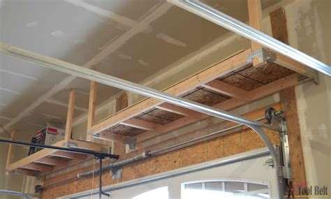 suspended garage storage diy