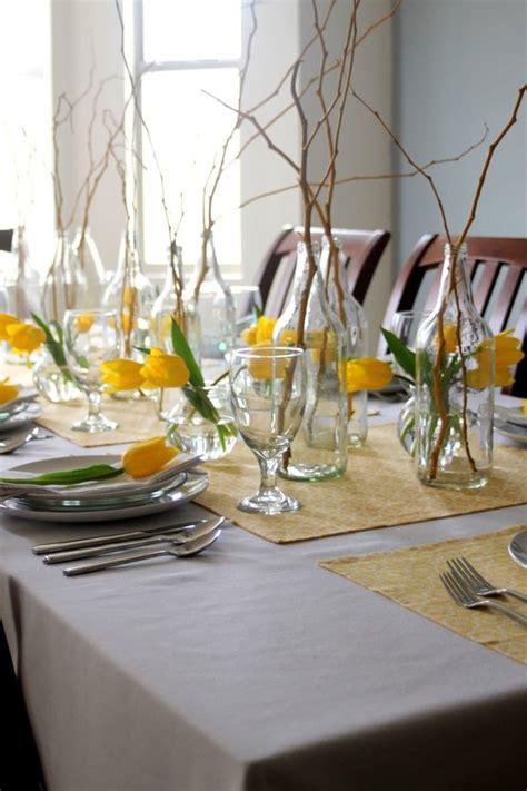 ideas    set  spring table pretty designs