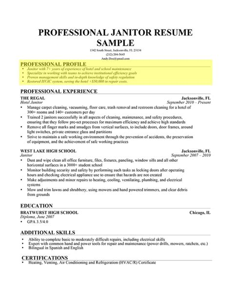 Profile For A Resume by Exles Of Profiles For Resumes Resume Exles 2017