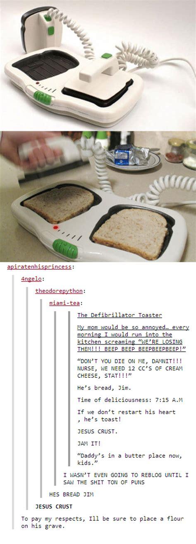 The Defibrillator Toaster by Defibrillator Toaster