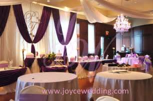 wedding decor purple wedding decoration joyce wedding services