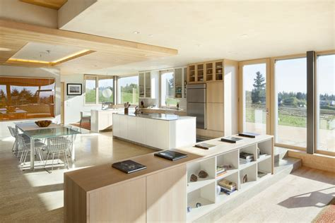 kitchen dining open plan sustainable house in newberg oregon
