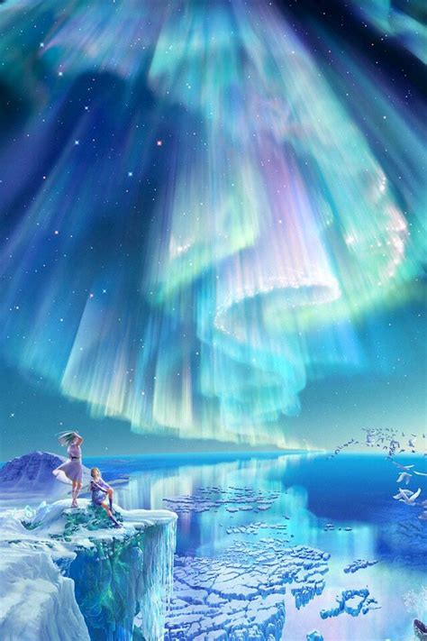 anime beauty   aurora boreal northen lights