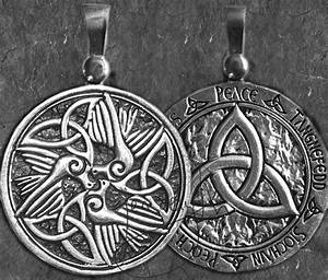 Celtic Doves - Peace Triquetra - Large Sterling Silver ...