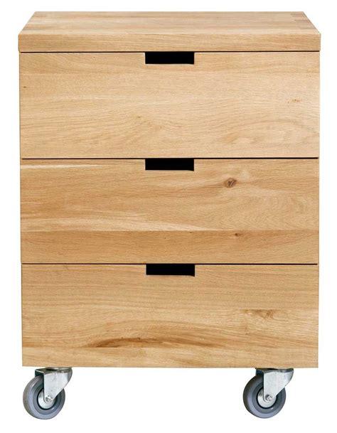 caisson d caisson billy oak bureau d 39 ethnicraft 3 tiroirs