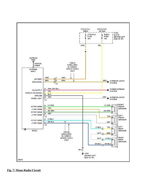 Chevrolet Monte Carlo Complete Wiring Diagram Part