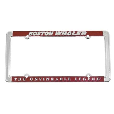 Boating License Boston by Purchase Boston Whaler Silver License Plate Frame
