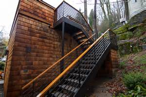 How To Build Stairs On A Deck by High Performance Garage Addition By Portland Seattle Home