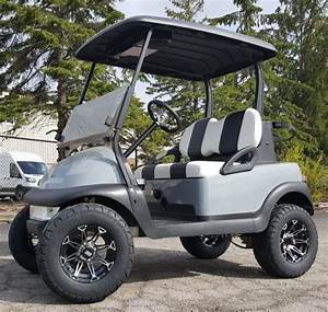 48v Lifted Club Car Precedent Golf Cart Grey With Custom