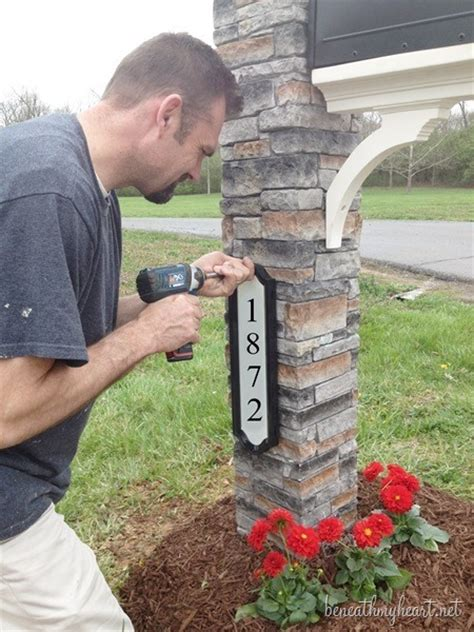 Does anyone know what the mailbox number is?? Mailbox makeover {Improving Curb Appeal} - Beneath My Heart