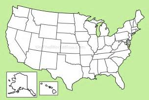 Blank USA Map Outline