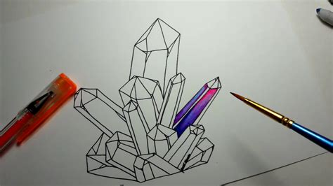 coloring crystals  gel pens youtube