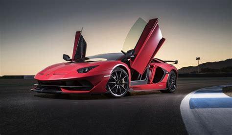 wallpaper lamborghini aventador svj red doors supercars