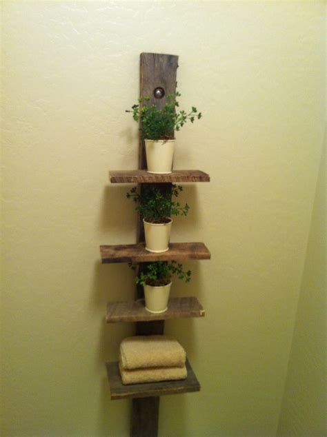 wood shelf pallet shelf everything reused and to do