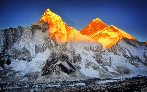 sunset  mount everest   hd wallpapers