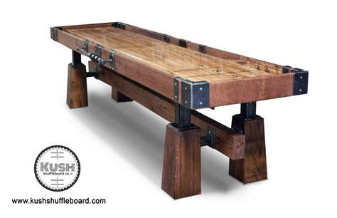 farmhouse table set rustic shuffleboard table the industrial farmhouse