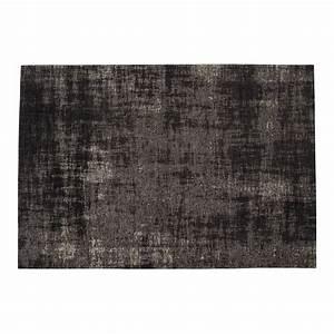 Tapis En Coton : tapis en coton noir 140 x 200 cm feel maisons du monde ~ Nature-et-papiers.com Idées de Décoration