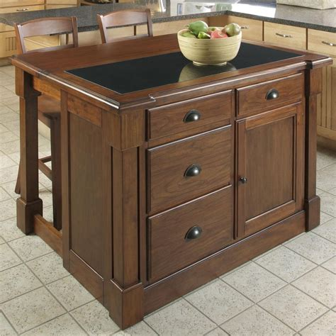 stool for kitchen island shop home styles brown midcentury kitchen island with 2