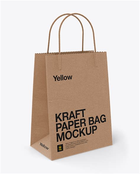 You can showcase your branding design on the pouch in a realistic and professional way. Kraft Bag W/ Twisted Paper Handles Mockup / Half Side View ...