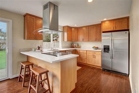 quartz countertops with maple cabinets pecan shaker maple pius kitchen bath