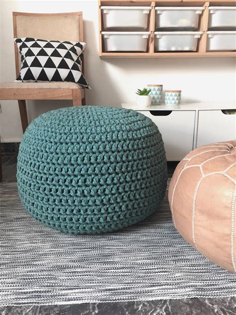 Large Pouf Ottoman by Teal Large Floor Pillow Pouf Ottoman Footstool Nursery
