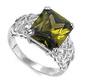 peridot wedding rings design wedding rings engagement rings gallery princess cut peridot engagement ring in sterling