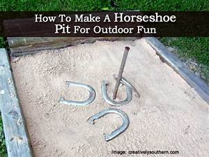 How To Make A Horseshoe Pit For Outdoor Fun
